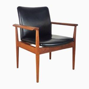 Chaise Diplomate Modèle 209 par Finn Juhl pour France & Søn, 1960s