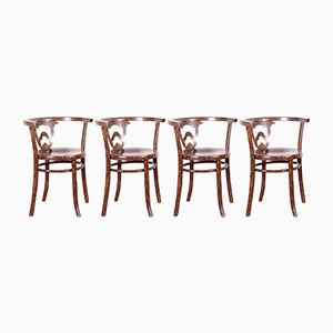Model B228 Antique Chairs from Thonet, Set of 4