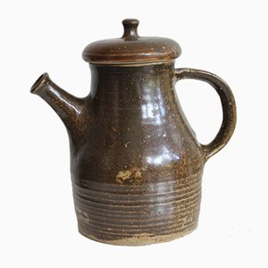 Vintage Stoneware Teapot by Gustave Tiffoche, 1970s