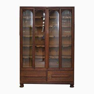 Hohes antikes englisches Bücherregal aus Eiche