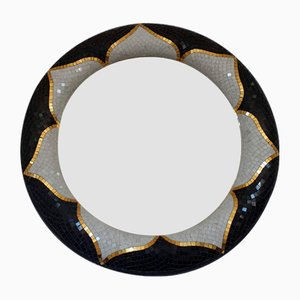 Modell Fior di Loto Spiegel mit Rahmen aus Marmor & Mosaik von Egram