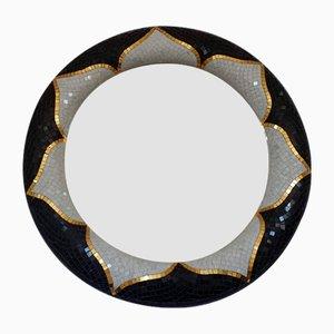 Specchio Fior di Loto in marmo e mosaico di Egram