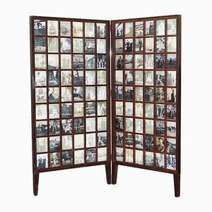 Antique Victorian Beech Folding Screen