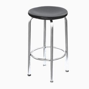 Vintage Barstool with Chrome-Plated Structure from Hynek Gottwald