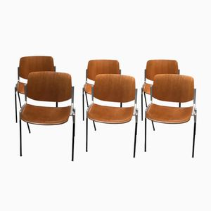 Chairs by Giancarlo Piretti for Castell, 1960s, Set of 6