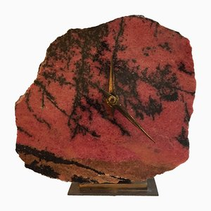 Mid-Century Stone Clock from Junghans, 1960s