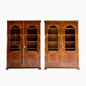Librería con estantes de nogal de Tomaso Buzzi, años 20. Juego de 2