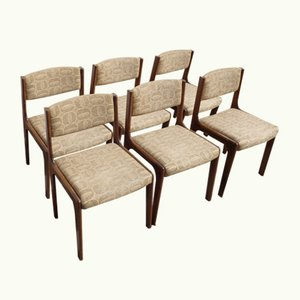 Vintage Dining Chairs, 1970s, Set of 6