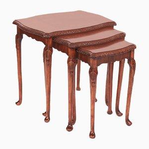 Tavolini ad incastro in noce, anni '20
