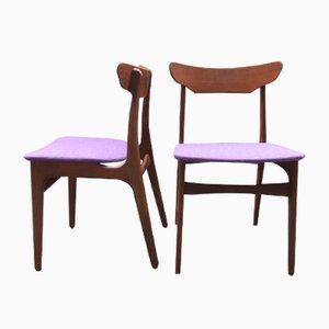 Sedie da pranzo in teak di Schiønning & Elgaard per Randers Møbelfabrik, anni '60, set di 2