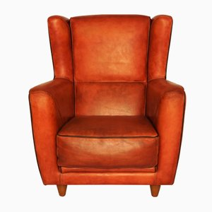Leather Bergere Armchair from Baxter, 1992
