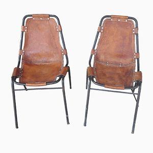 Les Arcs Stühle von Charlotte Perriand, 1950er, 2er Set