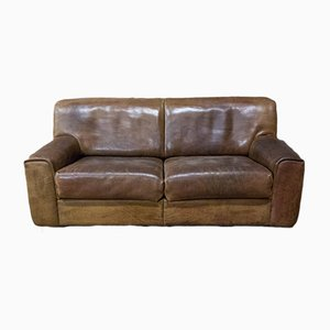 Vintage DS-42 Two-Seater Leather Couch from de Sede
