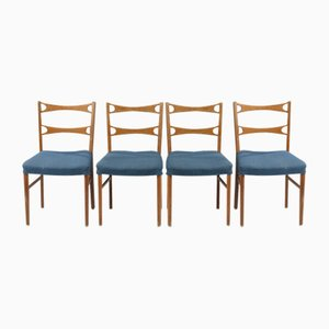 Vintage Danish Oak Dining Chairs, Set of 4