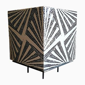 Optical Mosaic Coffee Table by Giorgio Carnevale, 1970s