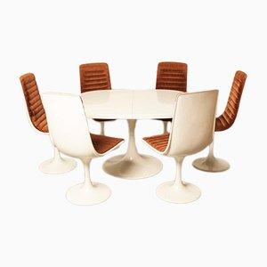 Set de Salle à Manger Indes Collection Blanc de Lübke, 1972