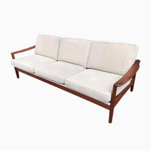 Danish Teak Three-Seater Sofa Bed, 1960s