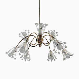 9-Arm Chandelier by Emil Stejnar for Rupert Nikoll, 1950s