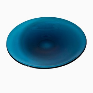 Glass Plate by Sven Palmqvist for Orrefors, 1950s