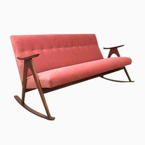 Sofá mecedor escandinavo vintage, años 60