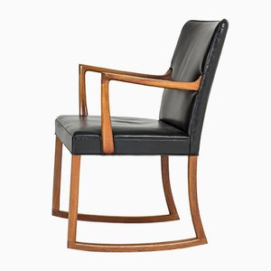 Rocking Chair by Ole Wanscher for A.J. Iversen, 1950s
