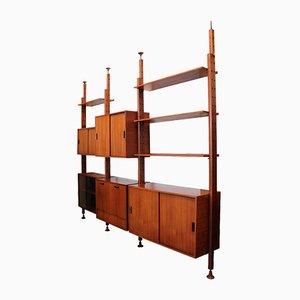 Libreria modulare vintage di Leonardo Fiori per ISA, 1955