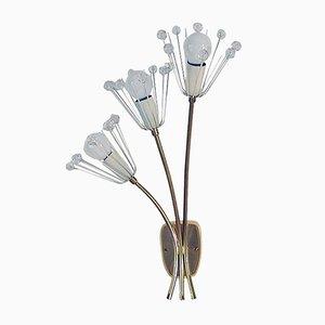 Florale Wandleuchte aus Kristallglas von Emil Stejnar für Rupert Nikoll, 1950er