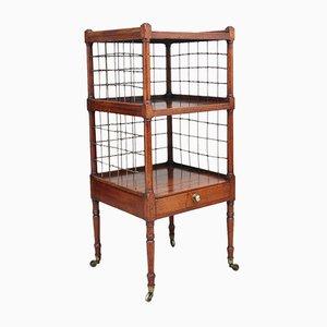 19th-Century Three-Tier Mahogany Side Table