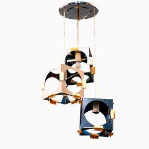 Lámpara colgante con 3 luces de Goffredo Reggiani, años 70