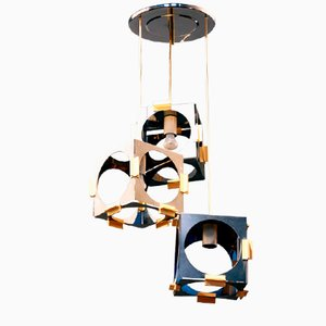 Pendant with 3 Lights by Goffredo Reggiani, 1970s