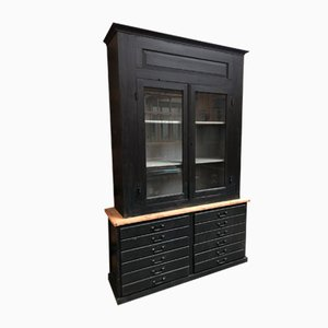 Cabinet with 2 Doors & Drawers, 1920s