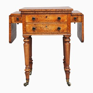 19th-Century Pollard Oak Drop Leaf Side Table