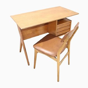 Set mit Schreibtisch & Stuhl von Gio Ponti, 1960er