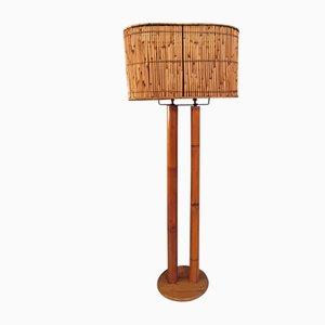 Lampada da terra in bambù, anni '70