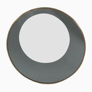 Mid-Century Italian Brass Rimmed Mirror