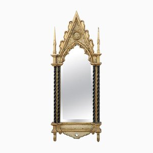 Vintage Carved and Gilded Wood Wall Mirror, 1950s