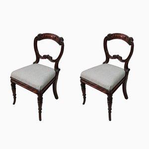 Englische Regency Stühle aus Kunstpalisander von Gillows, 1820er, 2er Set