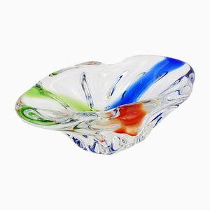 Tschechoslowakische Rhapsody Glasschale von Frantisek Zemek für Mstisov, 1960er