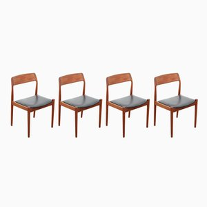 Scandinavian Teak Chairs from Nørgaards Møbelfabrik, 1960s, Set of 4