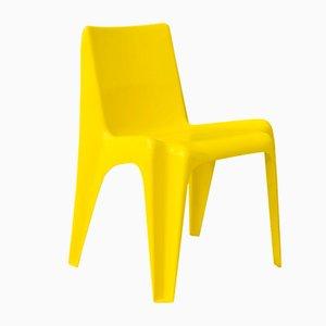 Chaise Organic en Plastique Jaune, 1970s