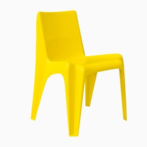 Plastic Yellow Organic Chair, 1970s