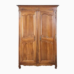 Antique French Solid Walnut Wardrobe, 1770s