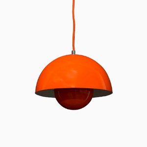 Suspension Flowerpot Orange par Verner Panton pour Louis Poulsen, 1960s
