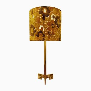 Italian Brutalist Brass Table Lamp, 1960s