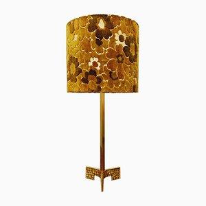 Italienische Brutalistische Messing Tischlampe, 1960er