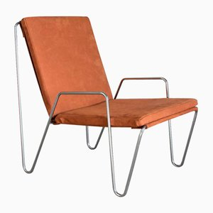 Vintage Suede Leather Bachelor Chair by Verner Panton, 1953