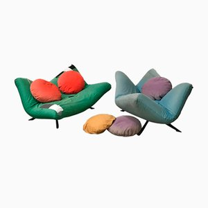 Ribalta Couches by Fabrizio Ballardini for Arflex, 1980, Set of 2