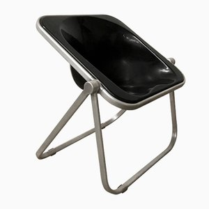 Black Plona Folding Deck Chair by Giancarlo Piretti for Castelli, 1969