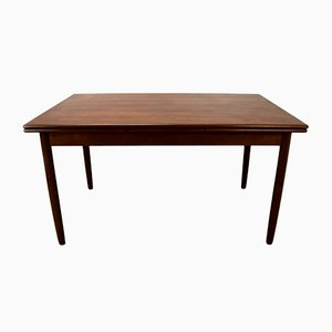 Vintage Danish Teak Extendable Dining Table, 1960s
