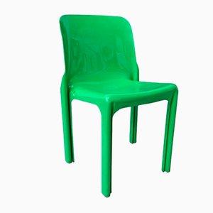 Sedia Selene verde di Vico Magistretti per Artemide, anni '60